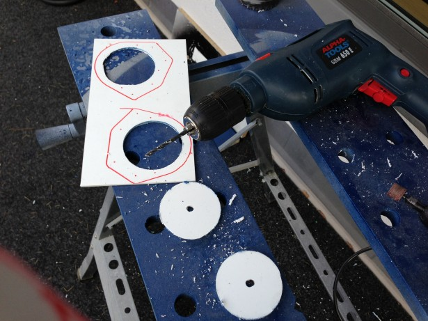 Cutting out new mount rings