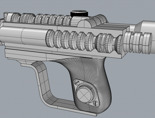 3D design and Blasters from a galaxy far far away…